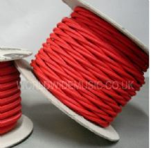 TWIST 2 Core Braided Fabric Cable Lighting Lamp Flex Vintage - POPPY RED